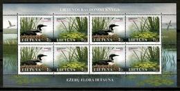 Lithuania 2005 Lituania / Birds Flowers MNH Vögel Blumen Aves Flores / Cu15315  18-33 - Pájaros