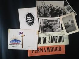 COMPAGNIE MARITIME BELGE BELGIQUE BATEAU JADOTVILLE MENU + 2 PHOTOS + 4 VIEUX PAPIERS + 6  AUTRES PHOTOS CONGO BELGE - Boten