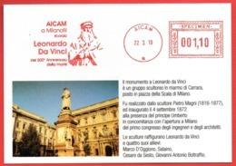 LEONARDO DA VINCI - MONUMENTO A MILANO - SPECIMEN METER STAMP EMA FREISTEMPEL AFFRANCATURA MECCANICA - Sonstige