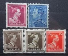 BELGIE 1950   Nr. 832 - 833 /  845 - 845 A En 846 A    Postfris **   CW  25,50 - 1936-1957 Col Ouvert