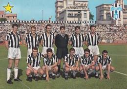 """Calcio/football Cartolina F.C. JUVENTUS Con SALVADORE, BERCELLINO, FAVALLI....- F/G - V: 1966  - """"stella"""" - Fussball"""
