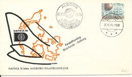 Denmark Cover First Flight Skovlunde - Aalborg 26-10-1974 Aalborg Filatelistklub 50th. Anniversary (Hafnia 76) - Lettres & Documents