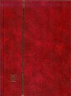 LEUCHTTURM - CLASSEUR LkZS 0/8 (16 Pages Fond Noir), Couverture De Couleur Bordeaux - Classificatori