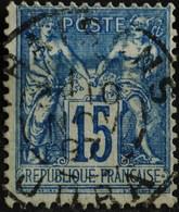 -Sage N°90 Type Ll. O (.CAD ) FRAISANS ( 38 ) 10 NOV 1897. - 1876-1898 Sage (Type II)