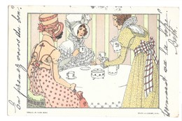 CPA ALICE WANKE ? FEMMES 4 HEURES THE CAFE ? ART NOUVEAU M MUNK WIEN CZEIGER - Illustrateurs & Photographes