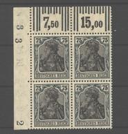 D.R.Nr.104b,ECK-VB,oben Links Mit Beiden OR-Typen,xx,gep - Deutschland