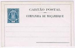 Companhia De Moçambique, 1904, # 3 B Cartão Postal - Mosambik