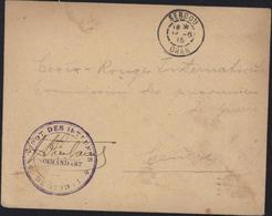 Guerre 14 Cachet Dépôt Internés De Sebdou Le Commandant + Signature FM CAD Sebdou Oran 16 6 15 Algérie - Postmark Collection (Covers)