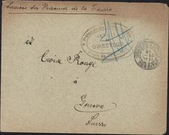 Guerre 14 Interné Civil Cachet Préfecture Bouches Du Rhône Dépôt De Frigolet Cabinet Du Directeur CAD Graveson 29 7 15 - Storia Postale