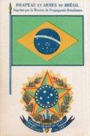 CPA   DRAPEAU ET ARMEES DU BRESIL---IMPRIME PAR LA MISSION DE PROPAGANDE BRESILIENNE - Brazilië