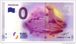 2016-1 BILLET TOURISTIQUE 0 EURO SOUVENIR N° UEBK009225 NAUSICAA - EURO