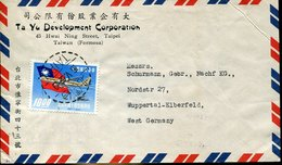 49720 China Taiwan,  Circuled Cover 1962 From Taipei To Germany - Covers & Documents