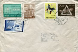 49721 China Taiwan,  Circuled Cover 1960 From Taipei To France - Covers & Documents
