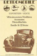 ÉVÉNEMENT EXPOSITION MANIFESTATION RETROMOBILE  AUTO VÉHICULES ANCIENS PARIS 1976 ROLLS ROYCE 1936 COUPE - Exhibitions