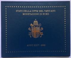 COFFRET BU - VATICAN - 2002 - 1cts à 2€ (8 Pièces) - Vatican
