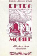 ÉVÉNEMENT EXPOSITION MANIFESTATION RETROMOBILE  AUTO VÉHICULES ANCIENS PARIS 1978 VOISIN 1929 ILLUSTRATION MOITRIER - Esposizioni