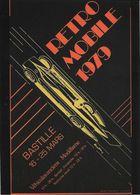 ÉVÉNEMENT EXPOSITION MANIFESTATION RETROMOBILE  AUTO VÉHICULES ANCIENS PARIS 1979 GOLDEN ARROW ILLUSTRATION MOITRIER - Esposizioni