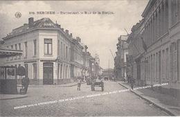 BERCHEM 1910-15 STATIESTRAAT / RUE DE LA STATION / HOEKPAND CAFE IN HET SPIEKEN, L AERTS-RAETS / ATTELAGES - Antwerpen