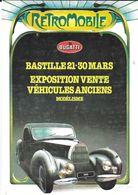 ÉVÉNEMENT EXPOSITION MANIFESTATION RETROMOBILE  AUTO VÉHICULES ANCIENS PARIS 1980 BUGATTI ATALANTE - Exhibitions