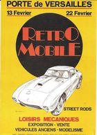 ÉVÉNEMENT EXPOSITION MANIFESTATION RETROMOBILE  AUTO VÉHICULES ANCIENS PARIS 1981 FERRARI BERLINETTE DESSIN MOITRIER - Exhibitions
