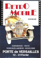 ÉVÉNEMENT EXPOSITION MANIFESTATION RETROMOBILE  AUTO VÉHICULES ANCIENS PARIS 1982 DUESENBERG TYPE J 1930 DESSIN MOITRIER - Exhibitions