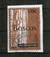 Wood Stamps Andorra. Timbre En Bois (Liège) , Oblitéré Sur Fragment Lettre, 1 ère Qualité - Used Stamps