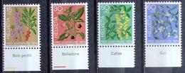 Schweiz Suisse Pro Juventute 1974: Zu 248-251 Mi 1042-45 Yv 972-975 ** MNH + TAB Français (SBK CHF 7.40) - Piante Velenose