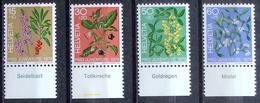 Schweiz Suisse Pro Juventute 1974: Zu 248-251 Mi 1042-45 Yv 972-975 ** MNH + TAB Deutsch (SBK CHF 7.40) - Piante Velenose