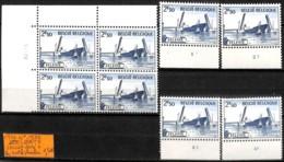 [837222]TB//**/Mnh-Belgique 1970 - N° 1538, ZELZATE, Bd4, Cdf Daté + Les 4 N° De Planches, Bateau, Transports - Belgien