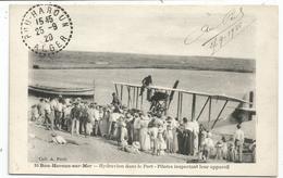 BOU HAROUN SUR MAER HYDRAVION DANS LE PORT PILOTES INSPECTANT LEUR APPAREIL CARTE ALGERIE - Autres Villes