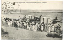 BOU HAROUN SUR MAER HYDRAVION DANS LE PORT  CARTE ALGERIE - Autres Villes