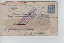 24PR/ GB Cover West Kensing1933 > Holland Ginneken Bij Breda Closure Tape Found Open Or Damaged Return To Sender - 1902-1951 (Könige)