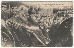 75 - PARIS - Revue De Longchamp - 14 Juillet 1910 - S.M. Albert 1er, Roi Des Belges Et Monsieur Fallières - Familles Royales