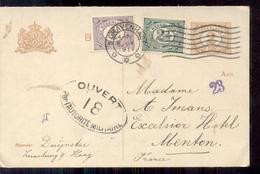 Den Haag - Mengfrankering - 1911 - Censuur - Geuzendam - Postal Stationery