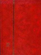 LEUCHTTURM - CLASSEUR LKZS 4/8 (16 Pages Fond Noir), Couverture De Couleur Rouge - Albums à Bandes