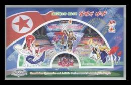 North Korea 2019 Mih. 6618B/20B (Bl.1026B) Grand Mass Gymnastics And Artistic Performance Land Of People (imperf) MNH ** - Korea (Nord-)