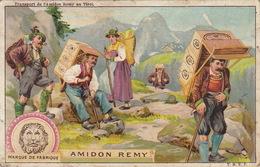 Chromo Amidon Remy Transport Porteur Tyrol Montagne Autriche - Trade Cards