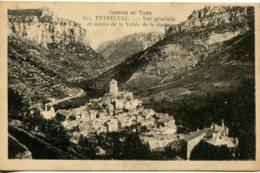 CPA - GORGES DU TARN - PEYRELEAU - VUE GENERALE - ENTREE DE LA VALLEE DE LA JONTE - Gorges Du Tarn