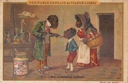 Chromo Liebig Noir Negro Une Consultation Médicale Langue - Liebig