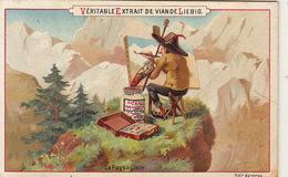 Chromo Liebig Le Paysagiste Peintre Palette - Liebig