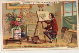 Chromo Liebig Le Peintre De Fleurs - Liebig
