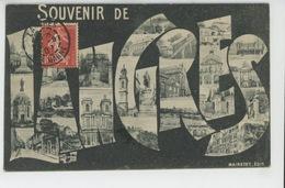 """LANGRES - Jolie Carte Vues Multiples """"Souvenir De LANGRES """" - Langres"""