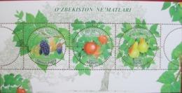 Uzbekistan  2019  Fruits  Of Uzbekistan  S/S   MNH - Ouzbékistan