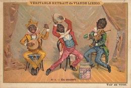Chromo Liebig Noir Negro Un Concert Banjo Violon - Liebig
