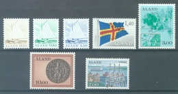 ALAND - 1984 -MNH/*** LUXE - YEAR COMPLETE - Yv 1-7 - Lot 20765 - Aland
