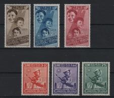 1937 Colonie Per L'infanzia Serie Cpl P.a. MLH - 1900-44 Vittorio Emanuele III