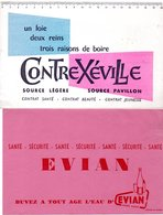 2 Buvards Eau Minérale. Evian Et Contrexéville. - E
