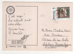 Beau Timbre , Stamp Yvert N° 2847 Sur Cp , Carte , Postcard Pour La France - 1931-Hoy: 2ª República - ... Juan Carlos I