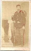 Photo CDV Soldat Second Empire Mercier Philippon Photographe Montmarault (Allier) - Oorlog, Militair