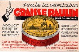 Buvard Graisse Paulin, Entretien Des Cuirs, Chaussures, Harnais, Ballons,... - Zapatos